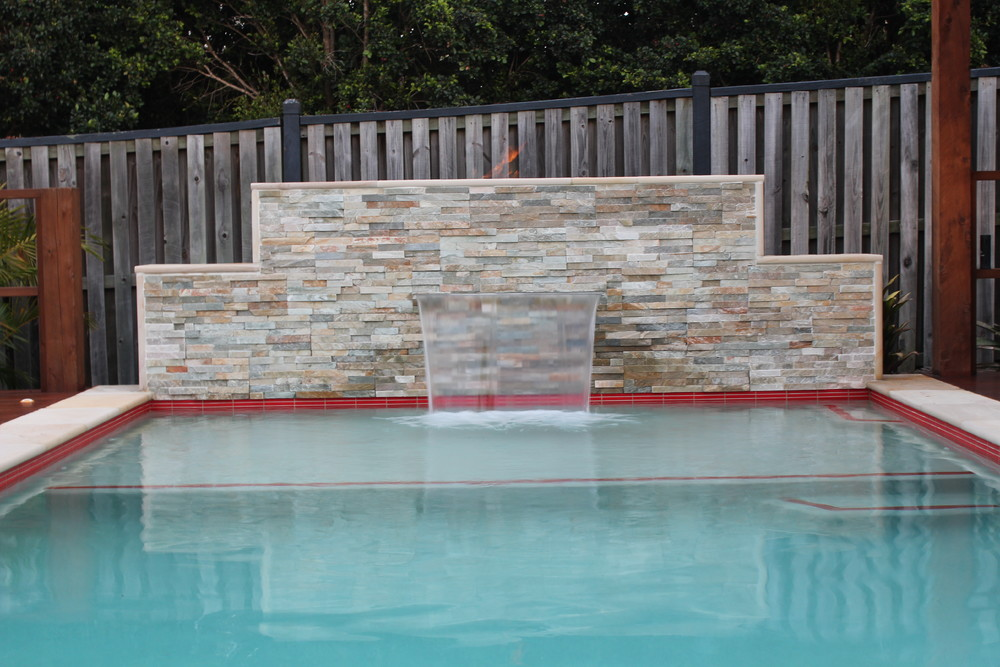 Burleigh Pool waterfall feature