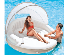 Inflatable pool canopy